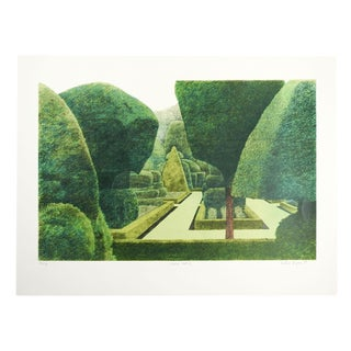 """Arthur Byrne """"Levens Hall Topiary Garden"""" Lithograph"""