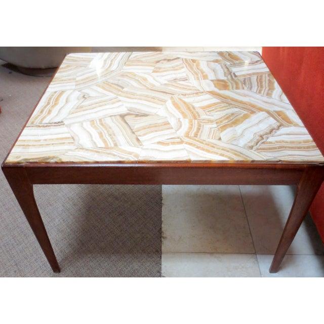 Ed Wormley Dunbar Travertine Coffee Table - Image 3 of 9