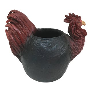 Hand Thrown Pottery Rooster