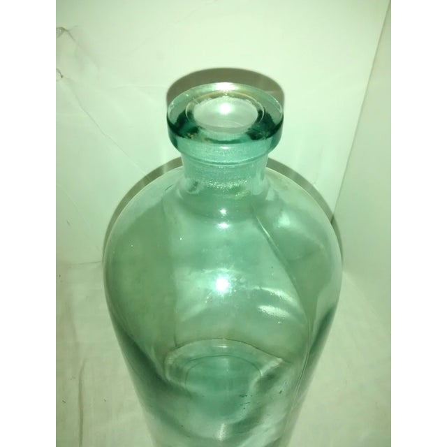 Large Blue Glass Apothecary Bottle - Image 5 of 6