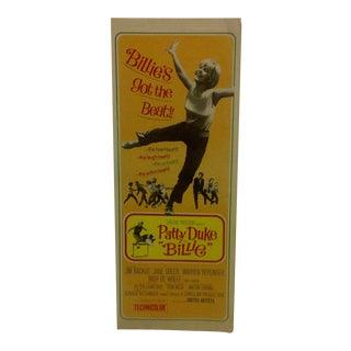 "Vintage Movie Poster ""Billie"" Patty Duke & Jim Backus 1965"