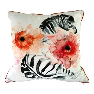 Vintage used pillows chairish for Dujardin zebre