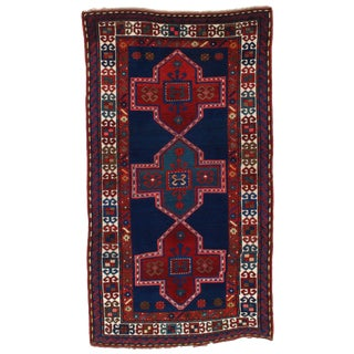 "Pasargad N Y Antique Russian Kazak Lamb's Wool Rug - 4'5"" X 8'"
