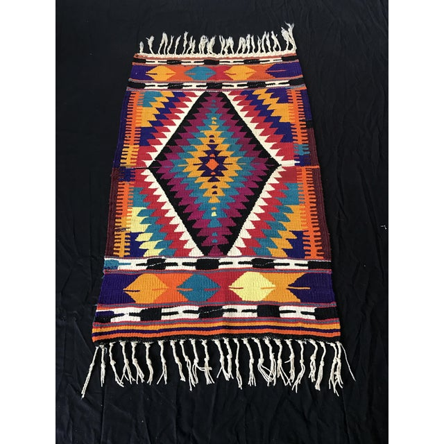 Turkish Anatolian Hand-Woven Wool Kilim Rug- 2′9″ × 4′4″ - Image 2 of 6