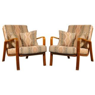 Alvar Aalto Armchairs with Cushions - Pair