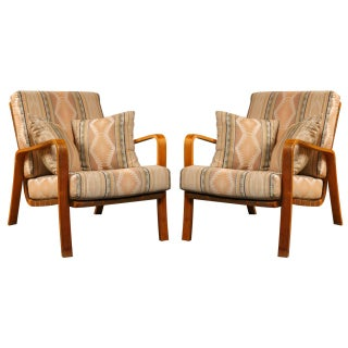 Alvar Aalto Armchairs with Cushions - Pair