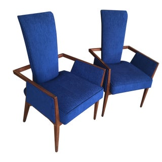 Pearsall Style Newly Upholstered Chairs - Pair