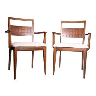 Mid Century Modern Brasilia Style Arm Chairs - A Pair