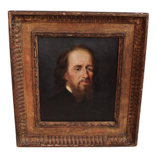 Early 20th Century Antique Lord Tennyson Portrait