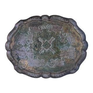 Vintage Italian Florentine Pressed Wood Tray