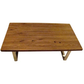 Reclaimed Wood Top Coffee Table