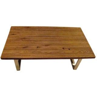 Reclaimed Wood Top Coffee Table