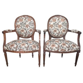 French Fauteuil Chairs - A Pair