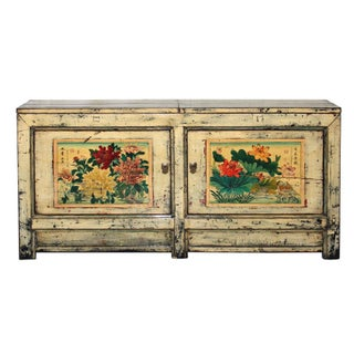 Antique C. 1880 Gansu Painted Buffet