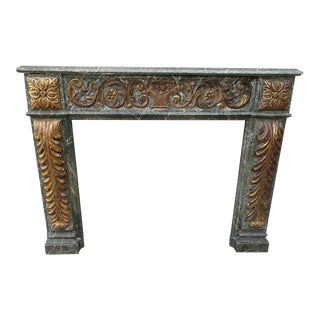 19th Century Italian Carved and Giltwood Mantel