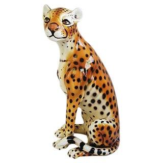 Mid-Century Capodimonte Italian Cheetah
