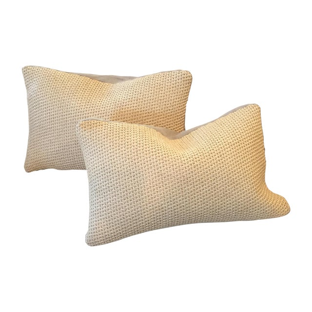 Williams Sonoma Woven Linen Pillow Covers - A Pair - Image 1 of 8