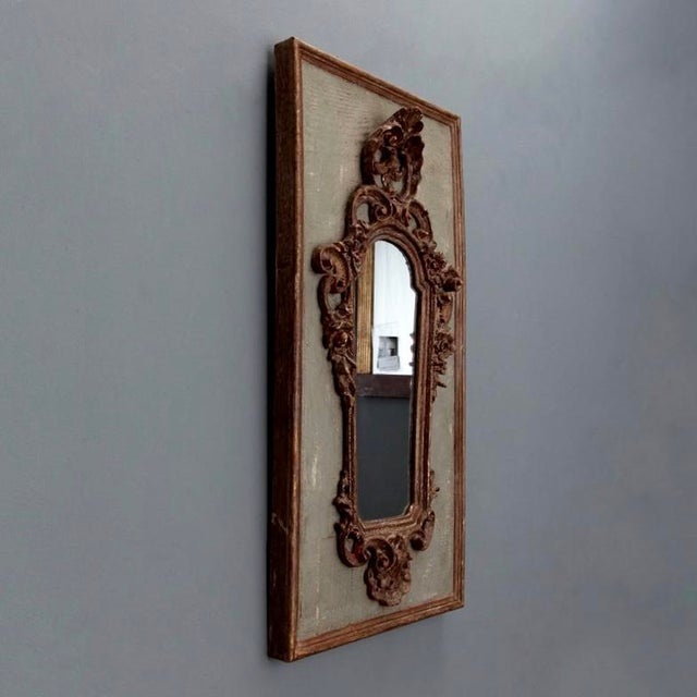 Pair 19th Century Italian Sconces With Carved Mirror and Gesso Frames - Image 6 of 10