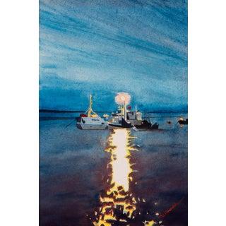 """""""Night Fishing,"""" Painting Circa 1975"""