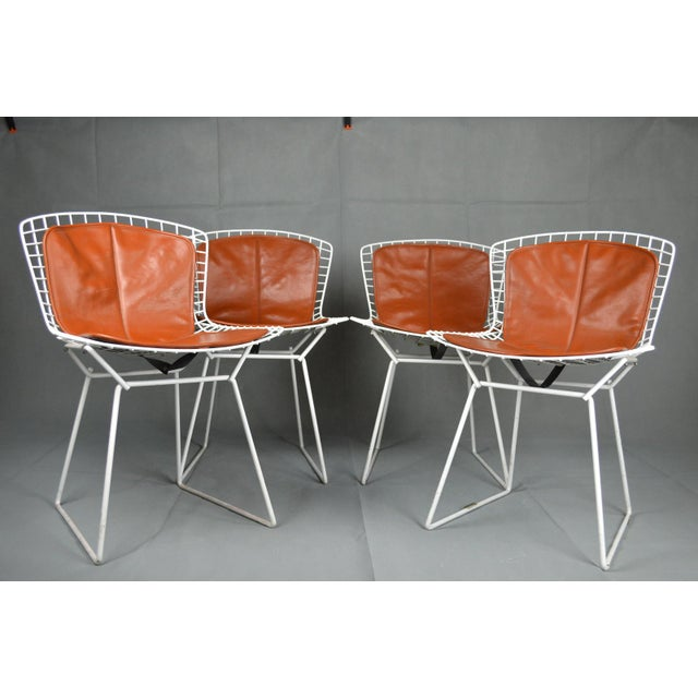 Bertoia for Knoll Vintage White Chairs - Set of 4 - Image 2 of 8