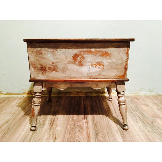 Farmhouse Rustic Side Table - Image 10 of 11