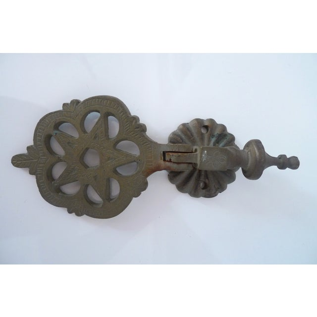 Antique Moroccan Brass Door Knocker - Image 3 of 7