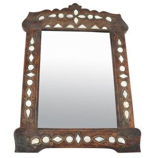 Petite Syrian Inlaid Mirror