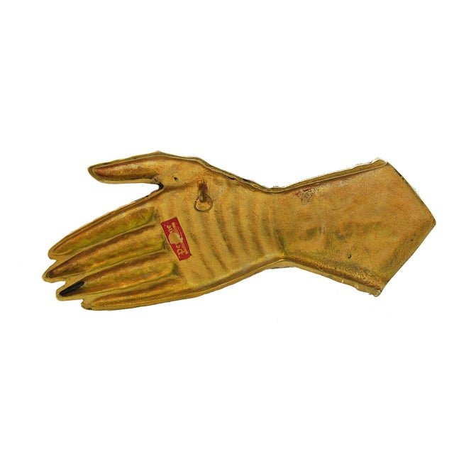 Image of Vintage Peerage England Brass Knight's Gauntlet