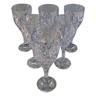 Bohemian Crystal Wine Goblets - Set of 6