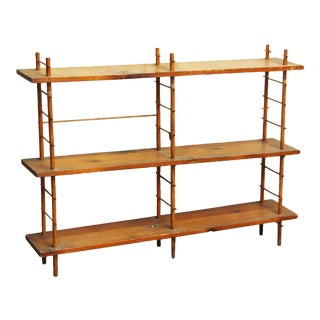 Restorable Three Tier Pine Wood Shelf
