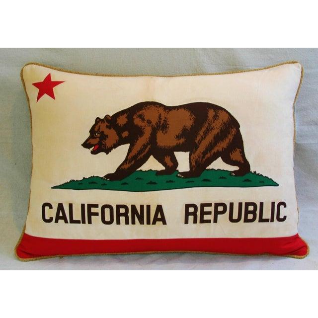 Jumbo California Republic Bear Flag Pillow - Image 8 of 11