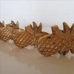 Image of Vintage Brass Pineapple Napkin Rings - Set of 4