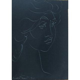1955 Madge Tennent Hawaiian Woman Drawing