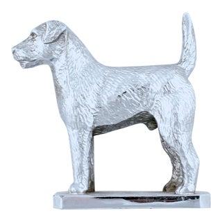 Vintage English Chrome Terrier Car Mascot