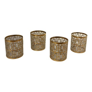 22k Gold Shoji Imperial Glasses - Set of 4