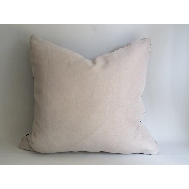 Black Kuba Cloth Pillows - A Pair - Image 5 of 8