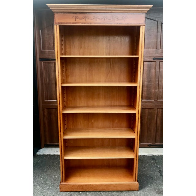 English Yew Wood & Satinwood Inlay Bookcase - Image 2 of 9
