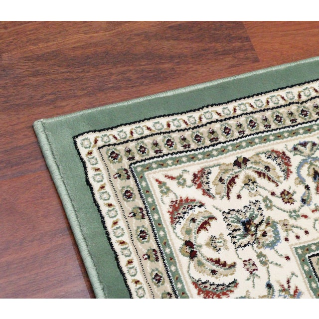 Traditional Medallion Green Rug - 5′3″ × 7′4″ - Image 7 of 8