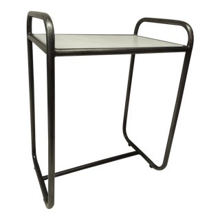 Vintage Tubular Industrial Side Table by Walter Lamb