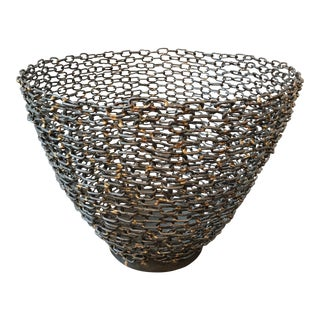 Large Sculptural Wire Bowl