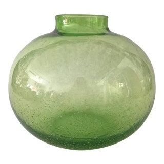 Handblown Vintage Green Vase