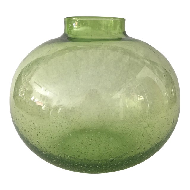 Handblown Vintage Green Vase - Image 1 of 5
