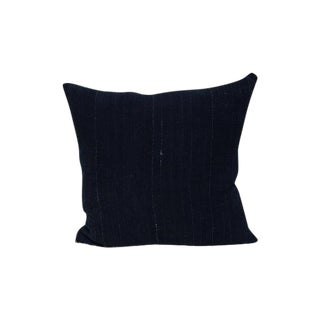 Vintage Indigo Mud Cloth Textile Pillow