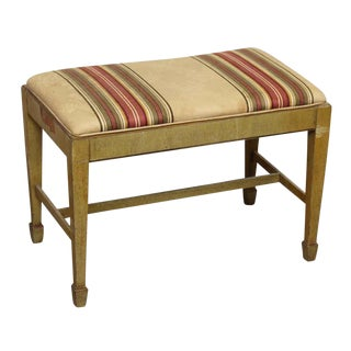 Wooden Piano Bench With Upholstered Seat