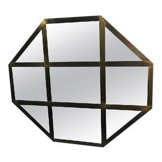Italian Brass Octagonal Shaped Wall Mirror