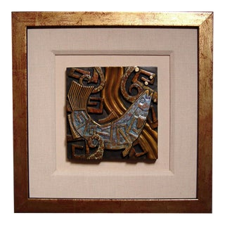 Bronze Salmon Tile by Tammy Garcia