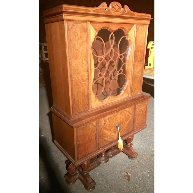 Jacobean Style Rockford Illinois Furniture China Cabinet Chairish