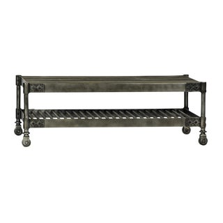 Industrial Steel Caster Coffee Table