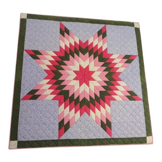 19th Century Eight-Point Star Crib Quilt from Berks County, PA on Mount