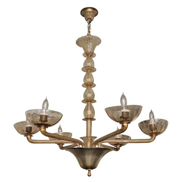 Image of Venini Handblown Glass Chandelier